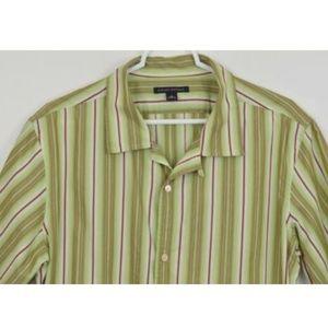 Banana Republic Medium Striped Shirt Short Sleeve